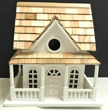 Wooden Handcrafted Beautiful White Bird House With Wrap Around Porch Hb 10 x 10