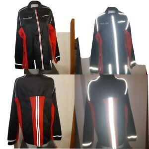 Brooks rock n roll Marathon reflective Running Jogging Track Jacket Sz M 44 x 30