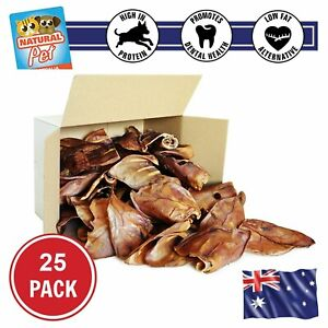 Large Pig Ears Whole - 100% Australian, Natural and Healthy Dog Treats, Dog Chew