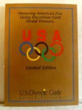 1991 (5) CARD DECATHLON GOLD SET - NR MT - MT