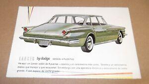 1961 DODGE LANCER 170 ORIGINAL DEALER ADVERTISEMENT AD 61 ART 770 GREEN
