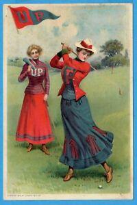 University Of Pennsylvania, UP, Golf, By Joseph Tetlow 1903. College Sports Card