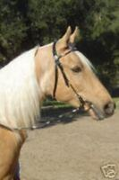 Brown Leather Western Bridle w/Silver Ferrules Arab Cob Horse Large Pony