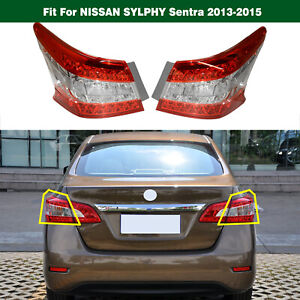 RH+LH LED Outer Tail Light Fit for NISSAN SYLPHY Sentra 2013-2015