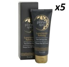 5 x AVON Planet Spa Luxuriously Refining Face Peel Off Mask BLACK Cavier Extract