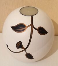NEW White/Gold/Black Ball-Shaped White Wooden Tea light Holder/Candle holder