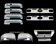For Ford F-150 15-16 Chrome Mirror 4 DOOR HANDLE PLATE TAILGATE CAMERA COVERS