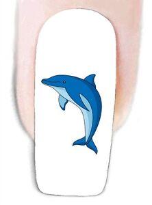 Delphin -1 Wraps Nail Art Tattoo Sticker Decal Fingernägel Fuß-Nägel Aufkleber