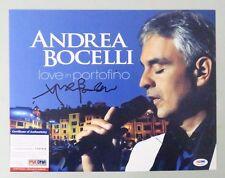 52222 Andrea Bocelli Love in Portofino Signed 11x14 Photo Auto Psa/Dna Coa