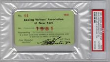 1951 Rocky Marciano (37-0) V Joe Lewis Ticket PSA/Oct.26/8th Round TKO Boston
