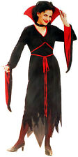 Gothic Vampiress Costume Halloween Fancy Dress One Size