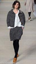 CHLOE Tweed SKIRT Wool Boucle Brown Black Gray 40 10 Jupe $1,439+ RUNWAY NEW TAG