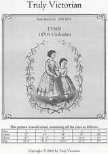 Schnittmuster Truly Victorian TV 600: 1869 Princess Dress for Girls