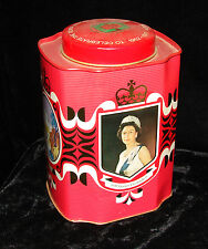 QUEEN ELIZABETH II DUKE OF EDINBURGH JUBILEE 1952-1977 TIN BOX BRISTOWS ENGLAND
