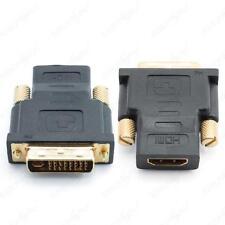 Adaptador Conector DVI-D 24+5 pines Macho Toma HDMI Acoplamiento Dorado Femenino