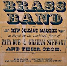 BRASS BANDS high society/maryland my maryland GRAHAM STEWART & PAPA BUE EP VG++