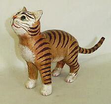 "CATS - ""CURIOUS CAT"" WOODEN CAT SCULPTURE - CAT FIGURINE"