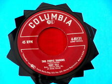 JERRY VALE~ TWO PURPLE SHADOWS~ VG+~AND THIS IS MY BELOVED~ COLUMBIA ~ POP 45