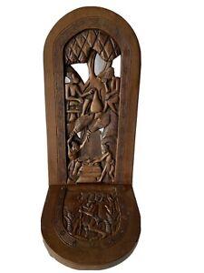 Grande Chaise à Palabre Africaine Sculptée Ancienne