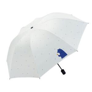 UV Protection Auto/Manual Umbrella Compact Folding Tri-Folded Unisex Umbrella 1X