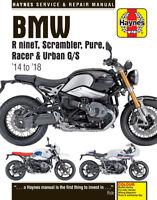 Haynes BMW R nineT R9T Scrambler, Pure, Racer & Urban 2014 - 2018 Manual 6402