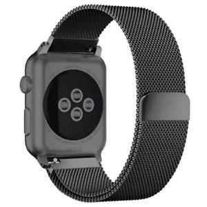 Milanese Loop Bracelet Stainless Steel Band for Apple Watch 1,2,3,4 38mm BLACK
