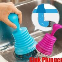 Hot Toilet Bathroom Kitchen Drain Sink Shower Tub Plunger Unblocker Cleaner FI