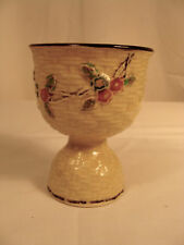 Vtg Hotta Yu Shoten Cherry Blossom Egg Cup Basketweave Hand Painted Japan MIJ