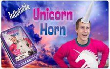 "Inflatable Unicorn Pegasus Horn w/ Tin 11"" Pretend Costume Halloween Gag Gift"