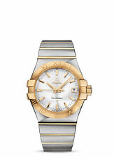 OMEGA Constellation Men's Stainless Steel with Yellow Gold Quartz Watch - Silver