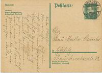 """DT.REICH 1931 Friedrich Ebert 8Pf dunkelgrün GA-Postkarte K2 """"DRESDEN / ALTST.28"""