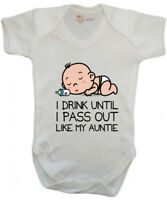 Funny I drink until I pass out like my Auntie Baby Bodysuit - Auntie Baby Gift
