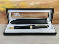 MONTBLANC Meisterstuck Classique 164 Ballpoint Pen w Leather Sleeve, MINT!
