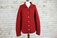 HOBBS Marylin Anselm Red Cardigan Jumper size M/L