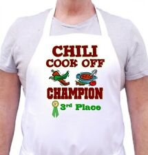 Chili Cook Off Apron Third Place Champion Novelty Chef Aprons by CoolAprons