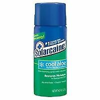 Solarcaine Cool Aloe Burn Relief Formula Pain Relieving Spray with Lidocaine