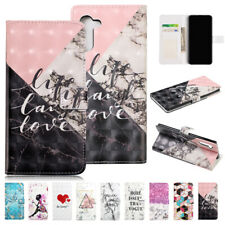 For Samsung Galaxy Note 10 Plus S10 5G S9 8 Pattern Flip Wallet Case Stand Cover