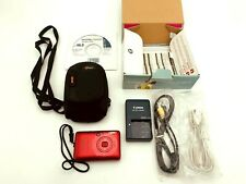 Canon PowerShot Digital ELPH SD780 IS 12.1MP Digital Camera Red + Case & More
