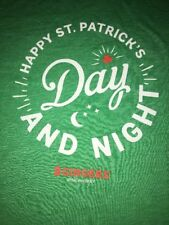Ladies Size L Large Philadelphia 2 Gingers St. Patrick's Day Night Green T-Shirt