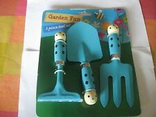 3 Piece Children's Painted Metal Gardening Tool Set Brand New in Packaging