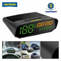 Car Head-Up Display GPS Digital Speedometer Gauges km/h mph Overspeed Alarm
