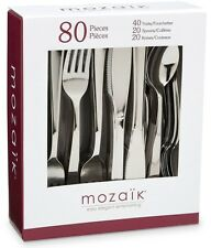 Mozaik 80 Piece Cutlery Set Forks Spoons Knives Stainless Steel Coated Plastic