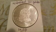 Netherlands 50 Gulden 1988 Britannia 1689-1989 Beatrix coin