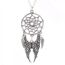 Dream Catcher Pendant Angel Wings Eagle Charm Bead Choker Necklace Woman Jewelry