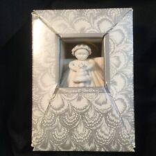 1990 Margaret Furlong Porcelain Shell Angel Holding Tree, Christmas, No Stand