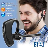 Trucker Wireless Mic Bluetooth Noise Cancelling Headset Earpiece New Ear hook