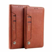 Cell Phone Case Wallet Card Document Holder Flip Leather Cover Retro Accessories
