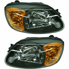 03-06 Hyundai Accent Headlights Headlamps Pair Set Left LH & Right RH