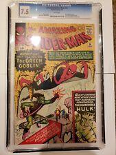 Amazing Spiderman 14 Custom Graded 7.5 Vintage Reprint 1st Green Goblin REPRINT