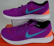 New Womens 9 NIKE FREE RN Hyper Violet Gamma Blue White Shoes $100 831509-500